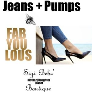 Pair Jeans with a Pump... FABulous!